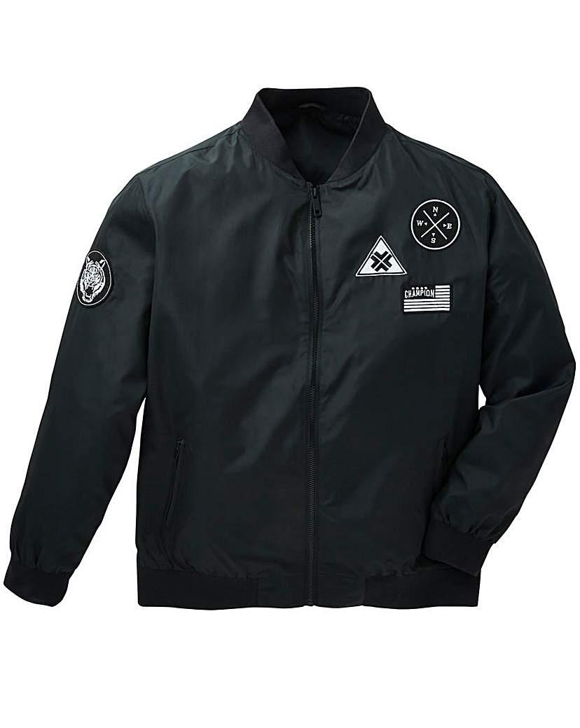 Image of Label J Badges Bomber Jacket Long