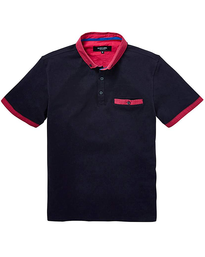 Image of Black Label Bright Trim Polo Long