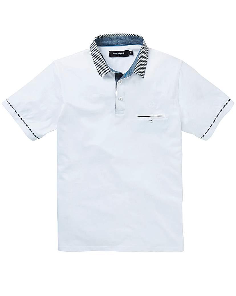 Black Label Gingham Collar Polo