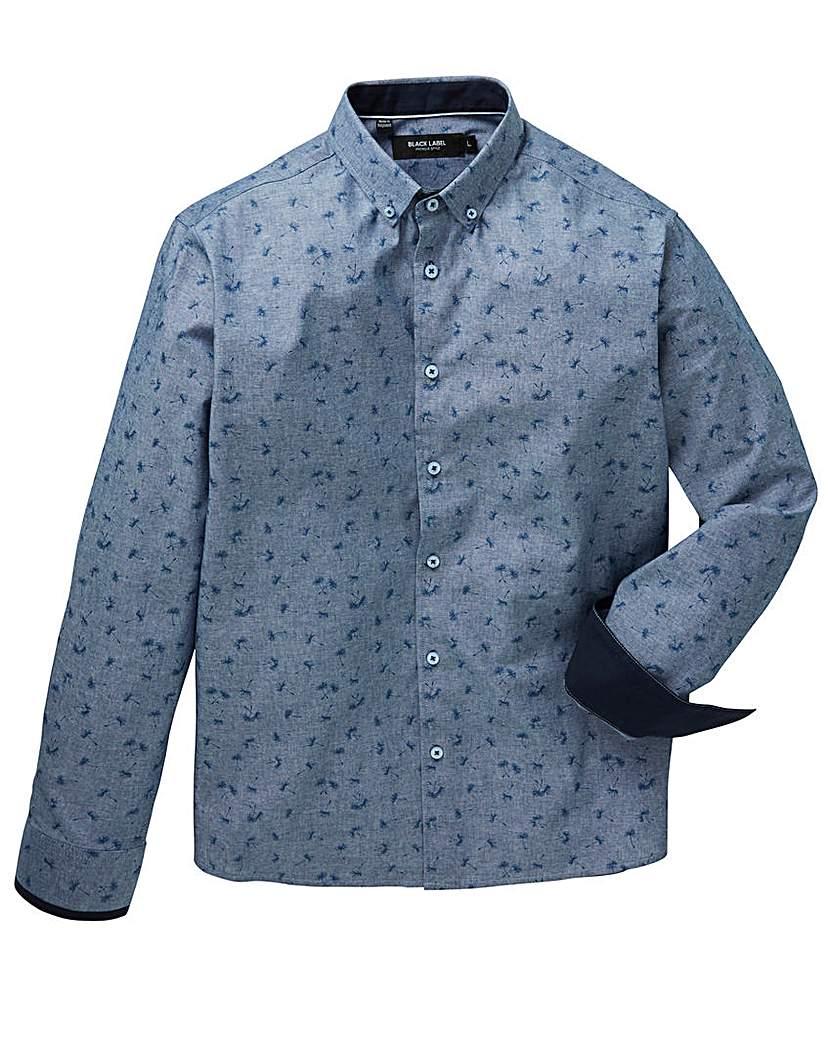 Image of Black Label Chambray Print Shirt