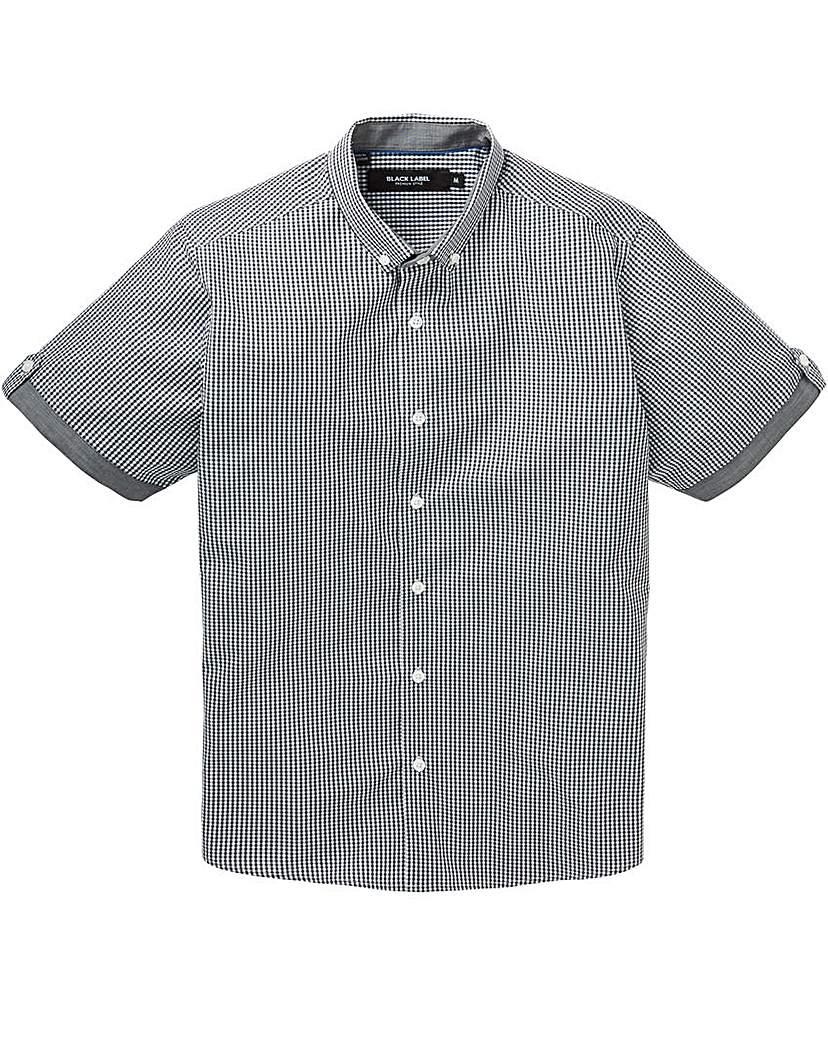 Image of Black Label Checked Trim Shirt