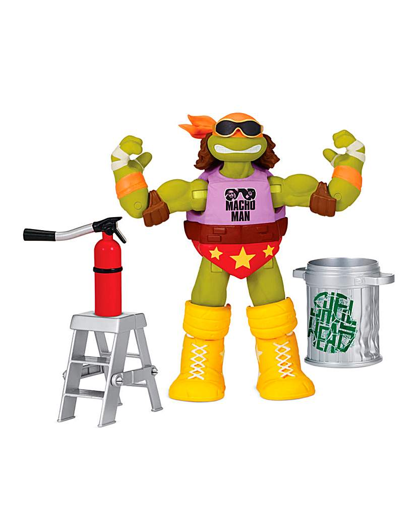 Image of TMNT WWE Mash Up Michelangelo as Macho M
