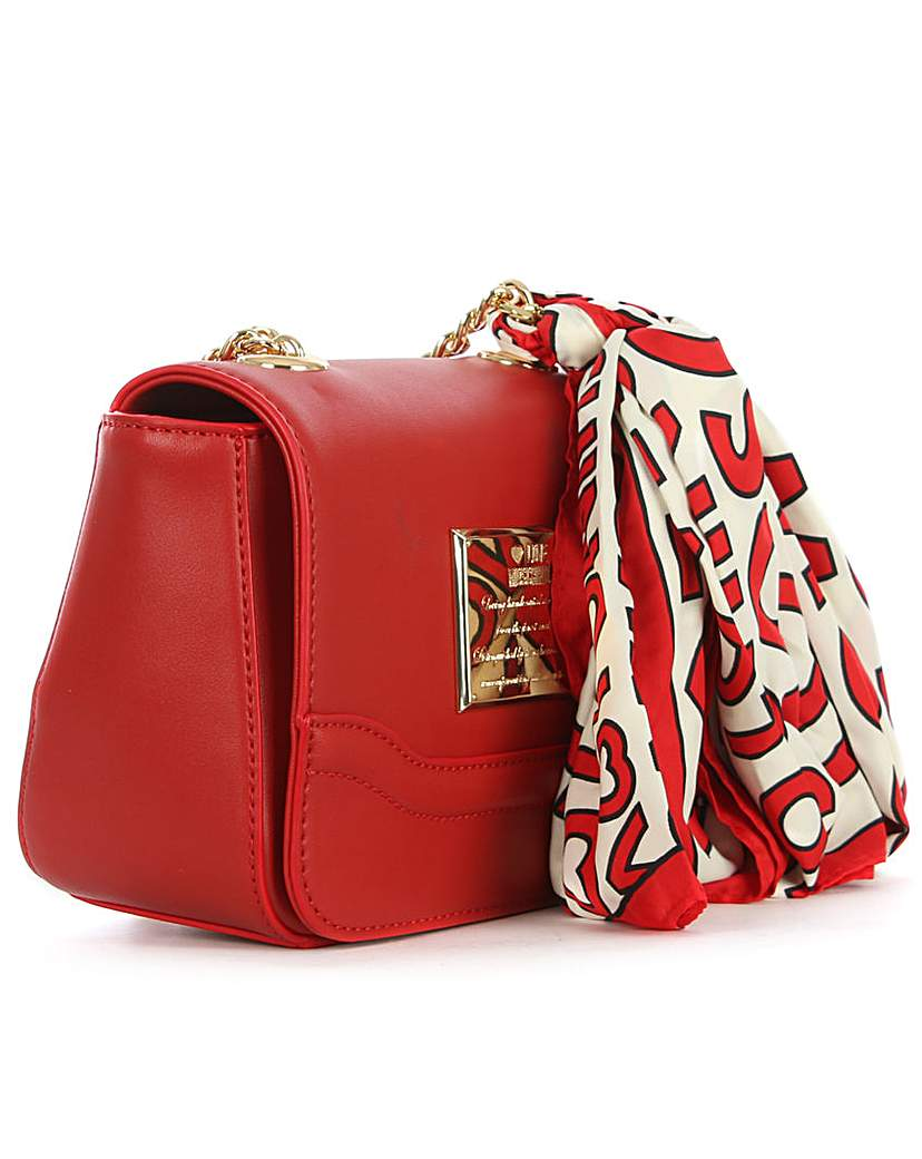 Love Moschino Chain Handle Red Bag