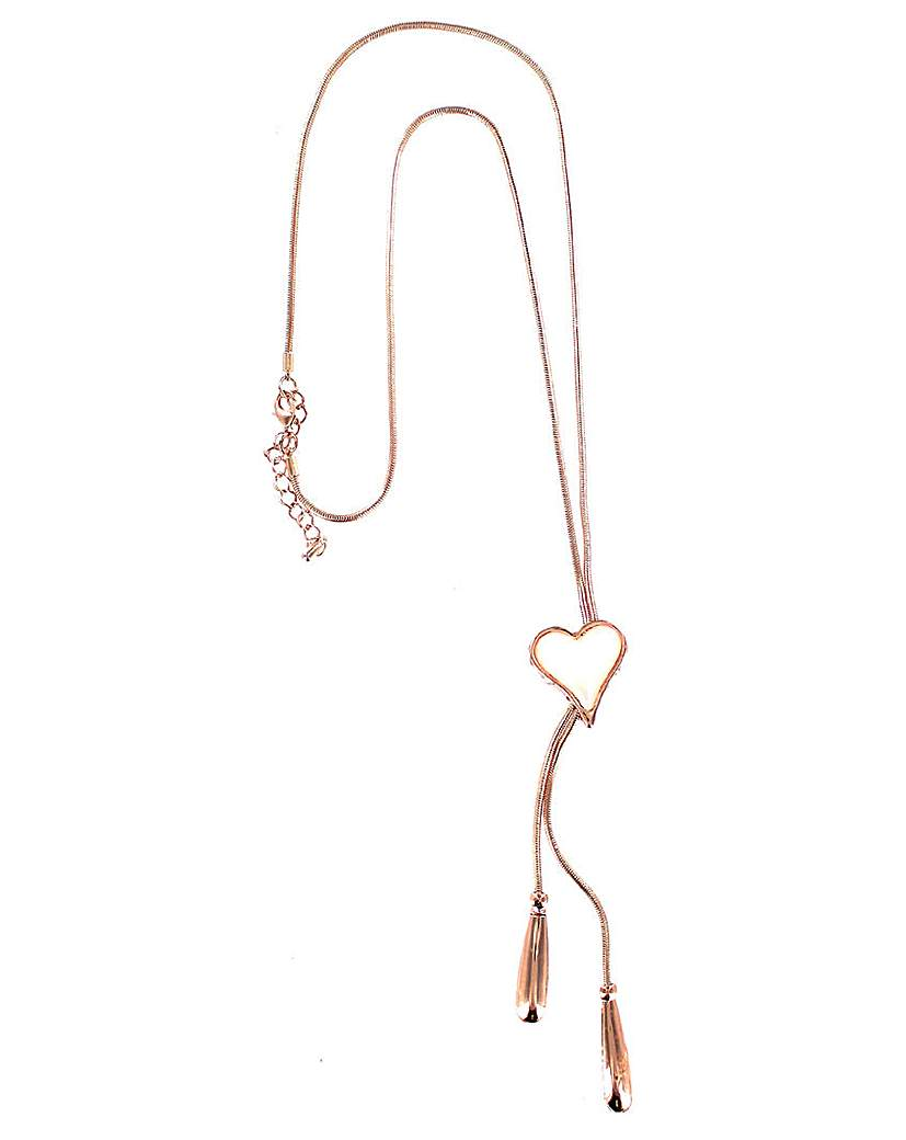 Image of Lizzie Lee Lariat Heart Necklace