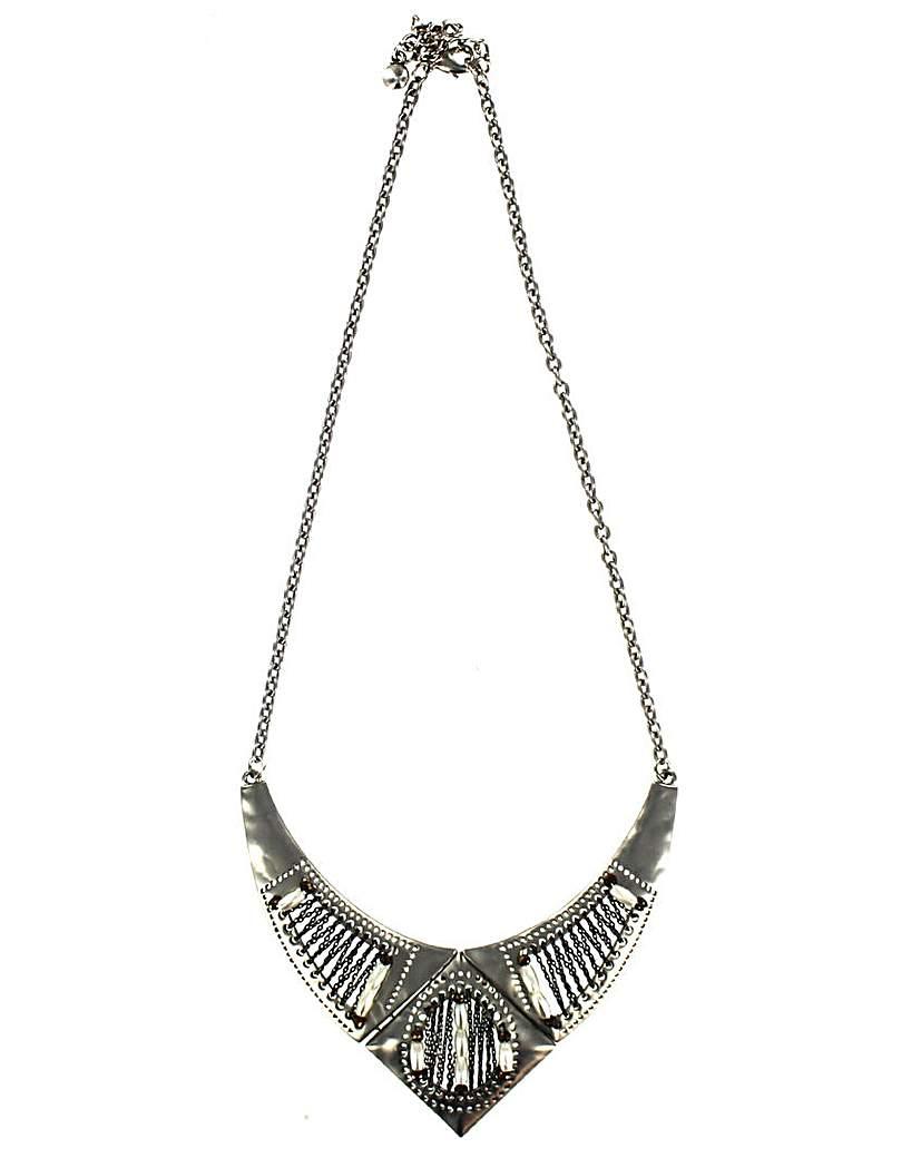 Matte Metal V Shaped Necklace