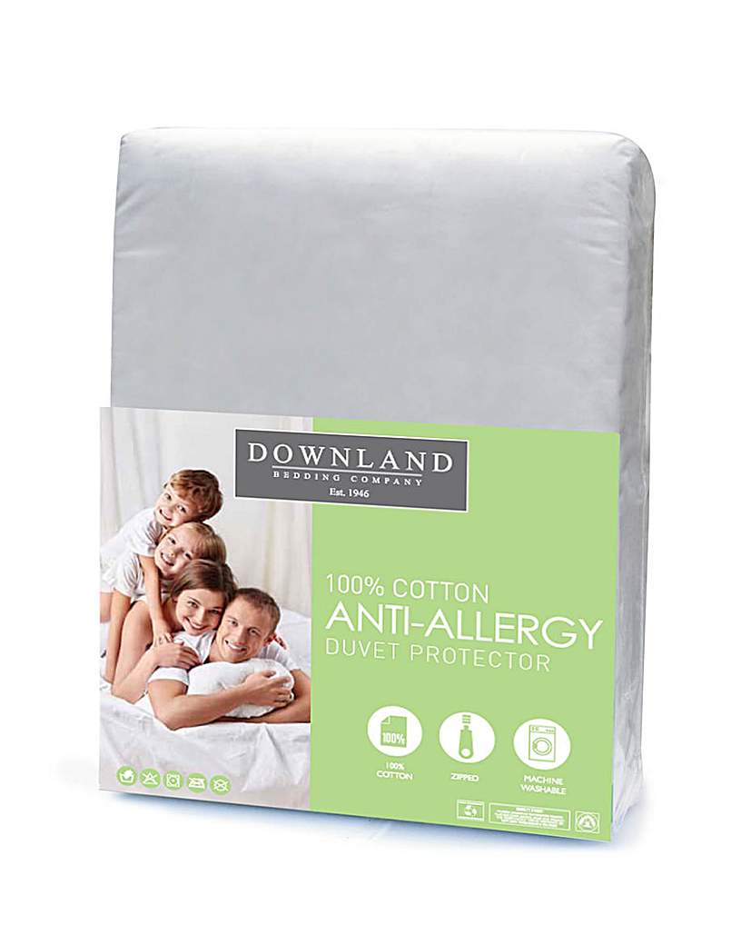 Image of Zipped Anti-Allergy Duvet Protector