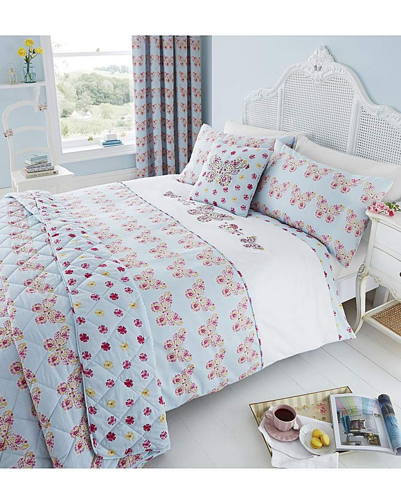 Image of CL Embroidered Butterfly Duvet Set
