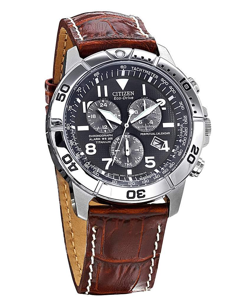 Image of Citizen Eco-Drive Leather Strap Watch