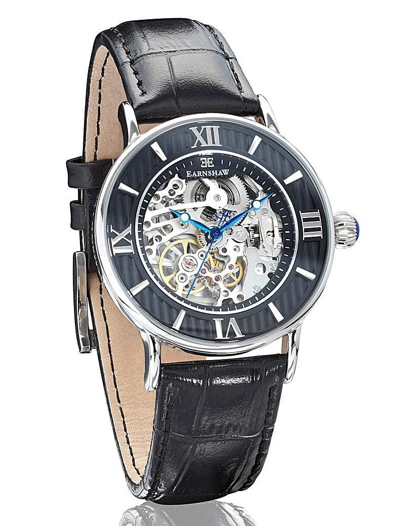 Earnshaw 'Darwin' Skeleton-Dial Watch