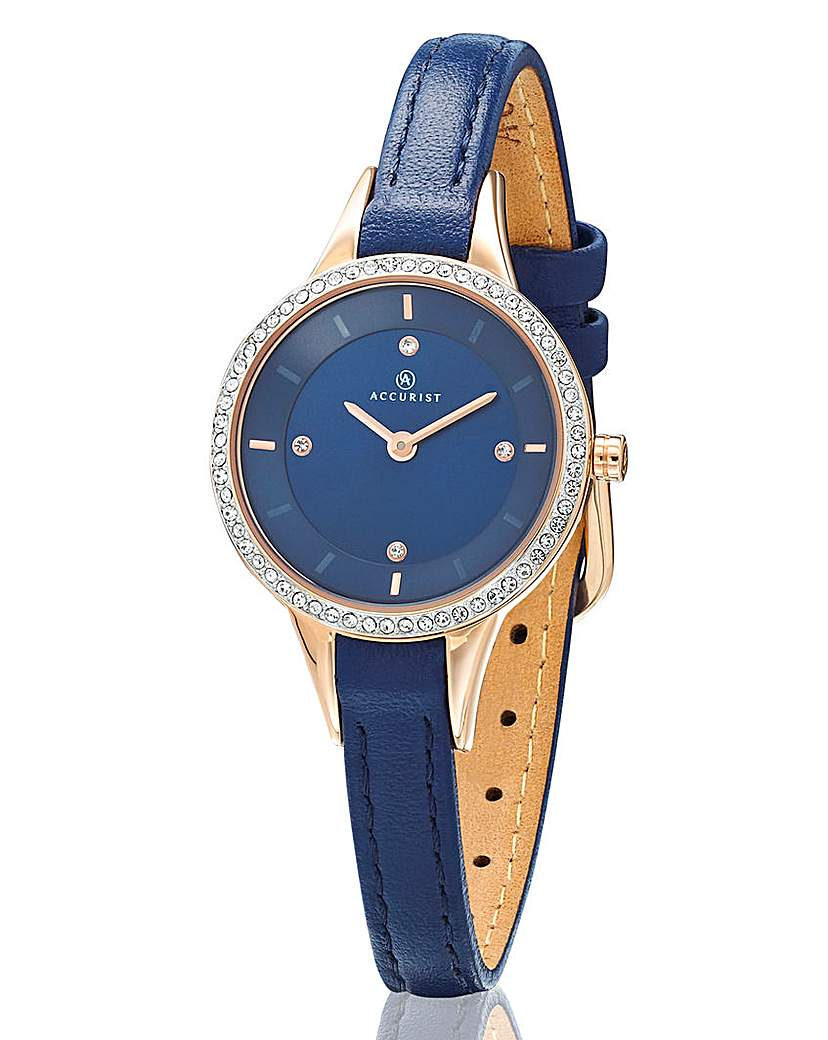 Image of Accurist Ladies Blue Strap Watch