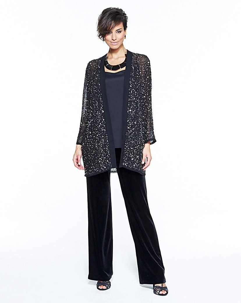 1920s Style Wraps Joanna Hope Beaded Jacket £40.00 AT vintagedancer.com