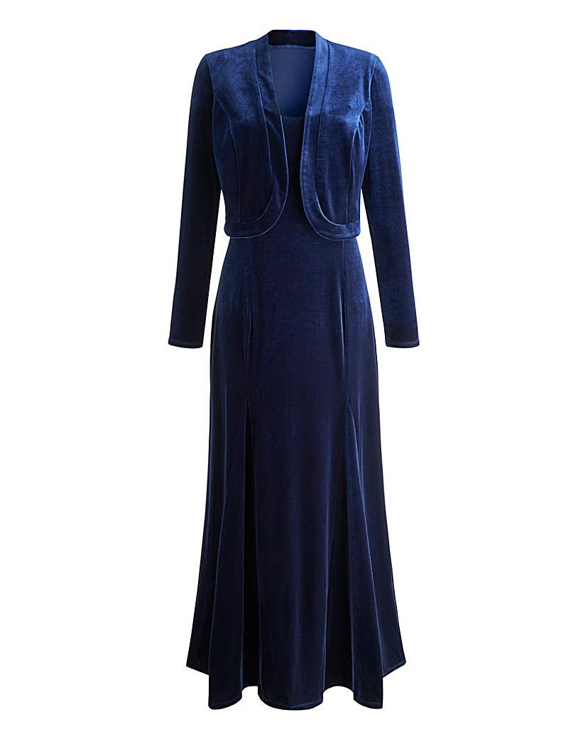 Joanna Hope Velour Maxi Dress and Bolero £29.50 AT vintagedancer.com