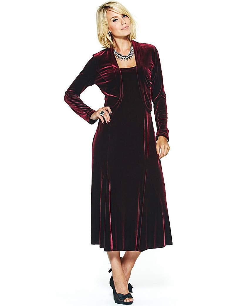 Joanna Hope Velour Maxi Dress and Bolero £29.50 AT vintagedancer.com