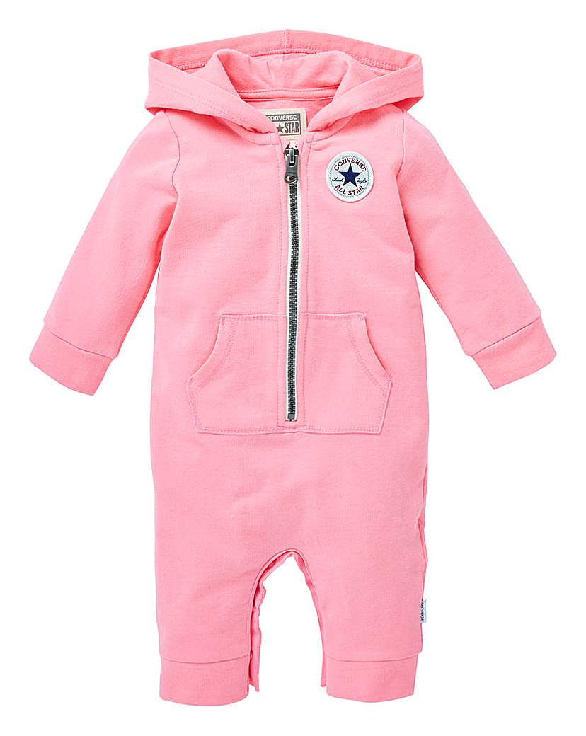 Image of Converse Baby Girl Hooded Romper