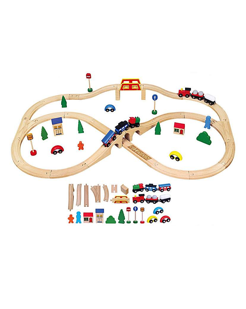 Personalised Wooden Train Set 49 Piece