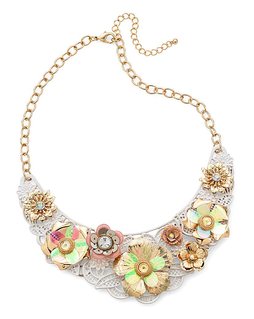 Image of 3D Flower Statement Necklace