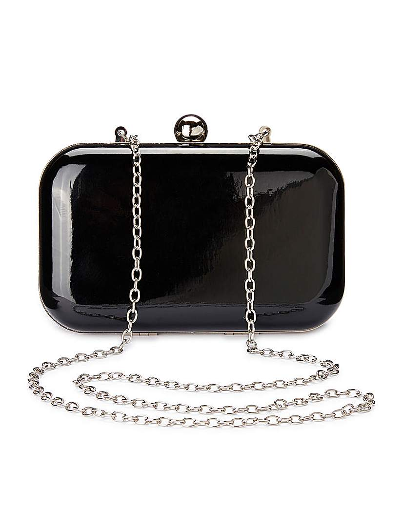 Image of Alice Black Patent Clutch Bag