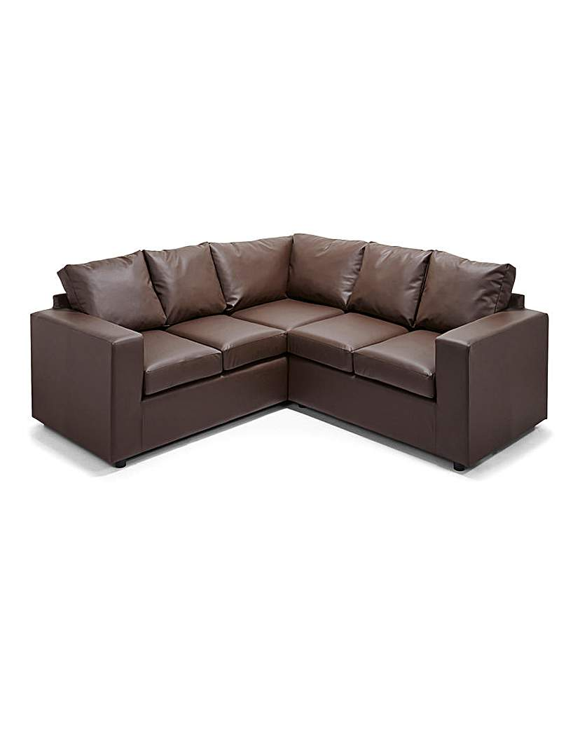 Image of Alicante Faux Leather Corner Group