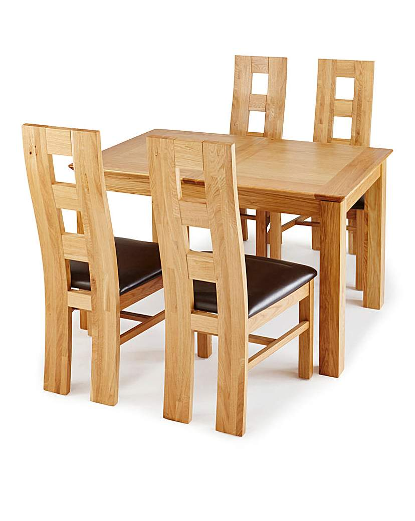 Image of Buxton Dining Table and 4 Rutland Chairs
