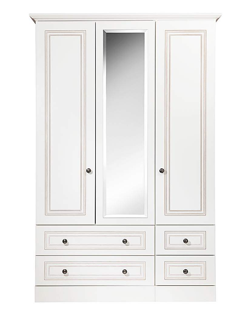 Image of Argon 3 Door 4 Drawer Mirror Wardrobe