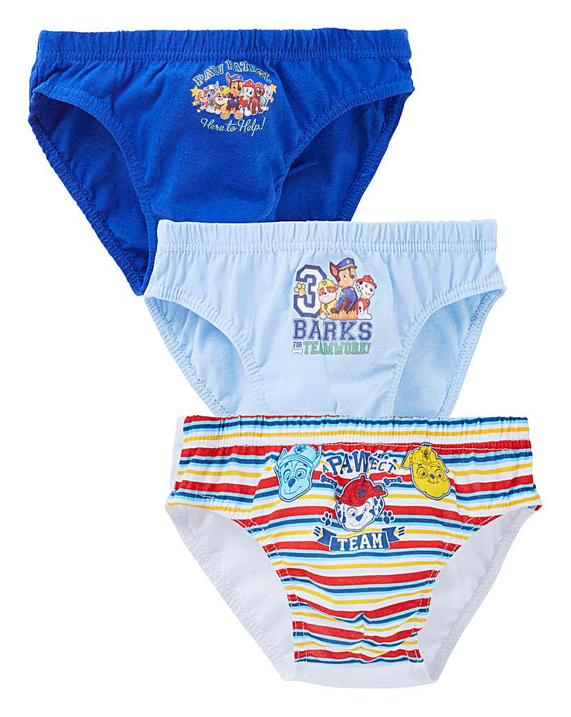 Image of Paw Patrol Pack of Three Briefs