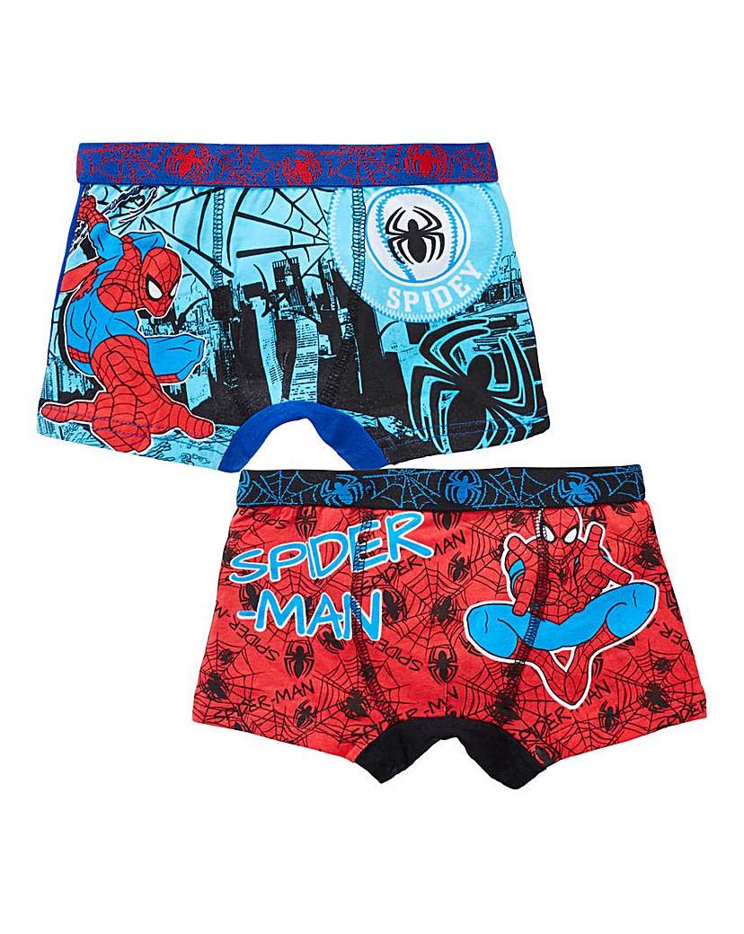 Image of Spiderman Boys Pack of Two Boxers