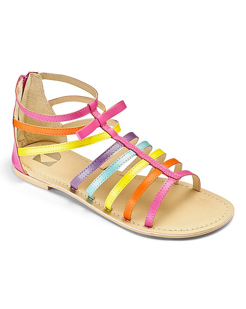 Image of Girls Multicolour Sandals Standard Fit