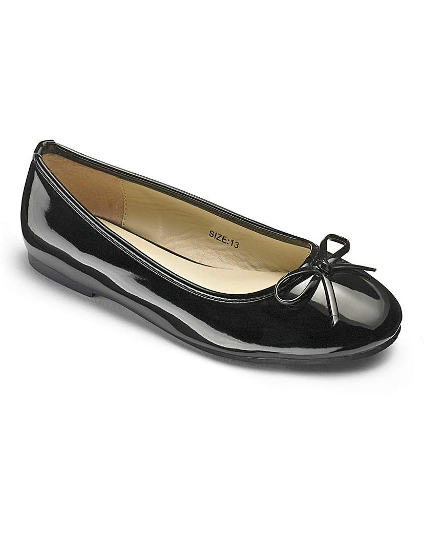 Girls Black Ballerina Shoes Standard Fit