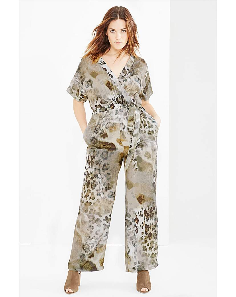 Elvi Animal Print Jumpsuit