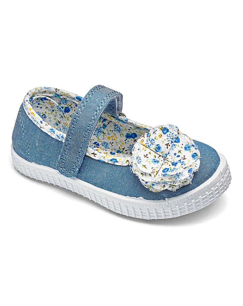 Image of Girls Chatterbox Denim Canvas Shoes