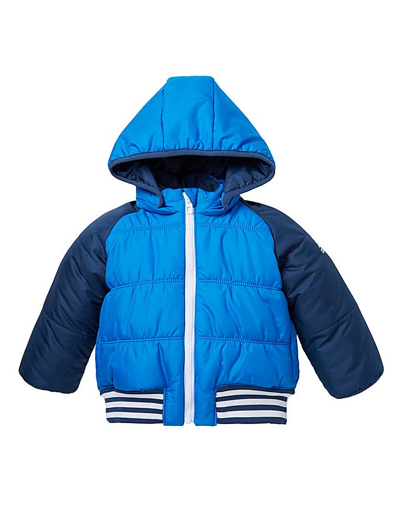 adidas Boys Blue Padded Jacket
