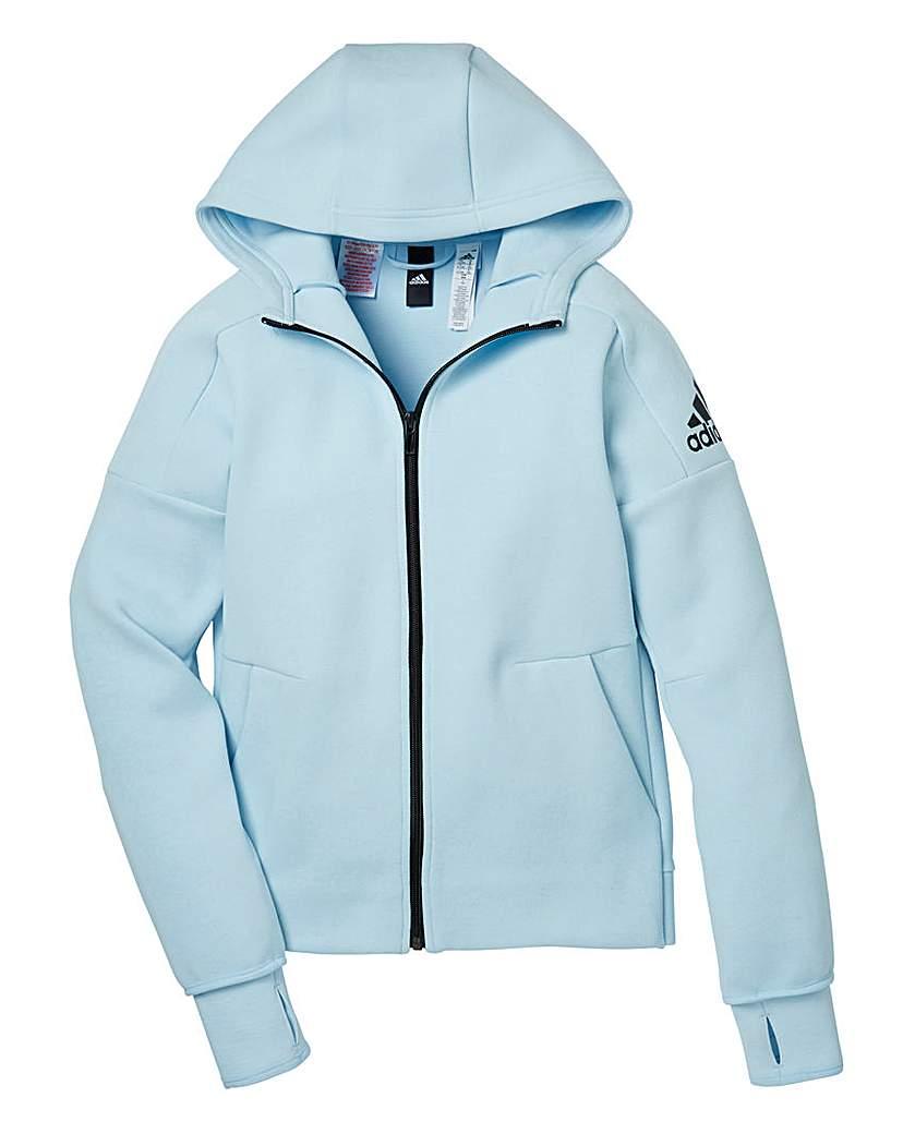 adidas Girls Blue Zip-Up Zone Hoodie