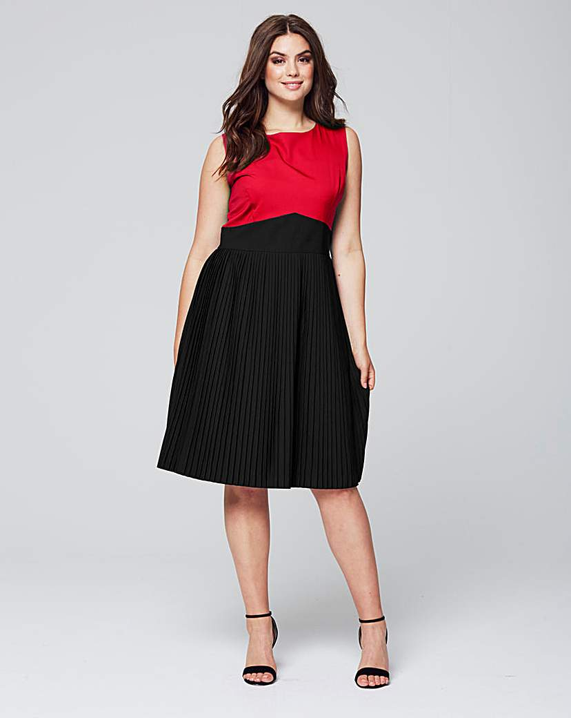 Wolf & Whistle Colour Block Dress