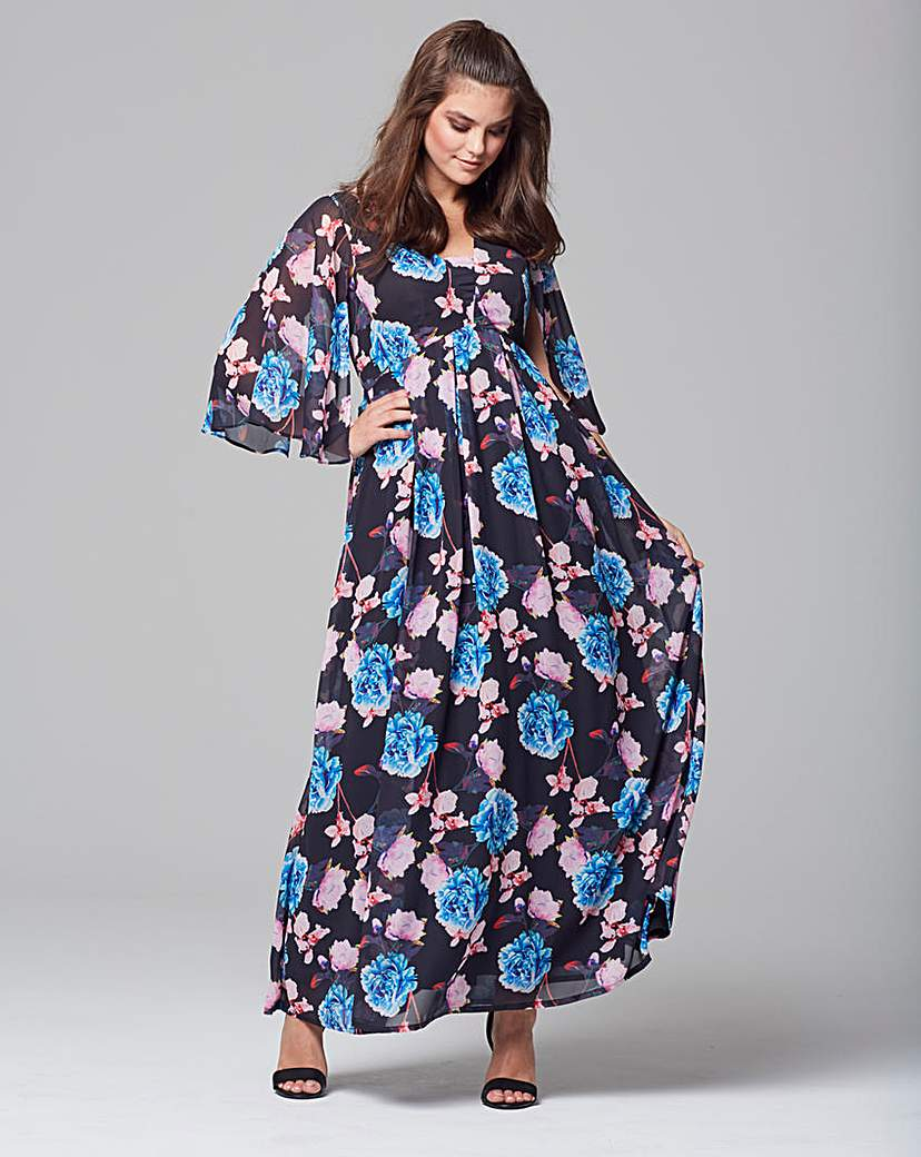 Wolf & Whistle Chiffon Maxi Dress