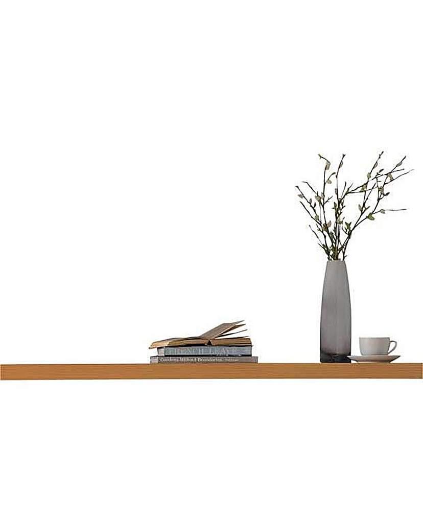 home 80cm floating shelf beech effect