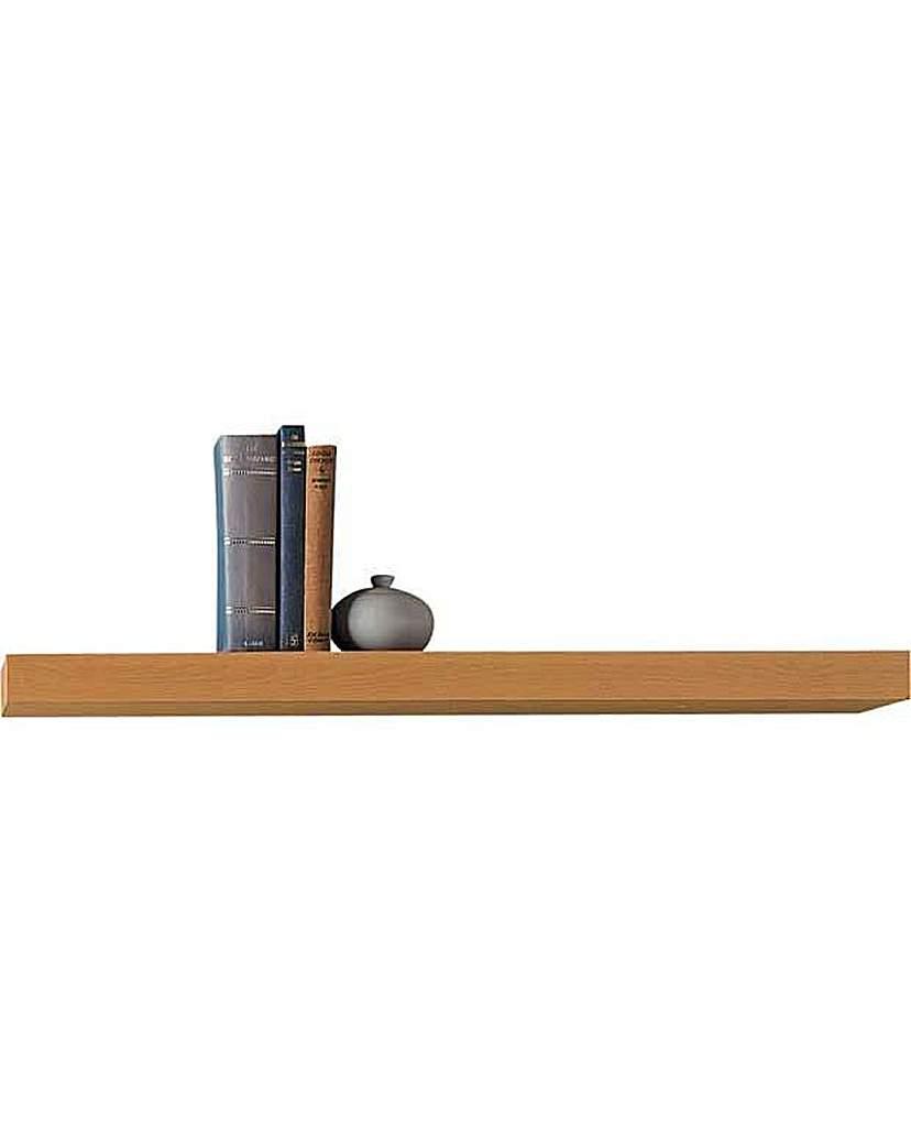 home 80cm floating shelf oak effect