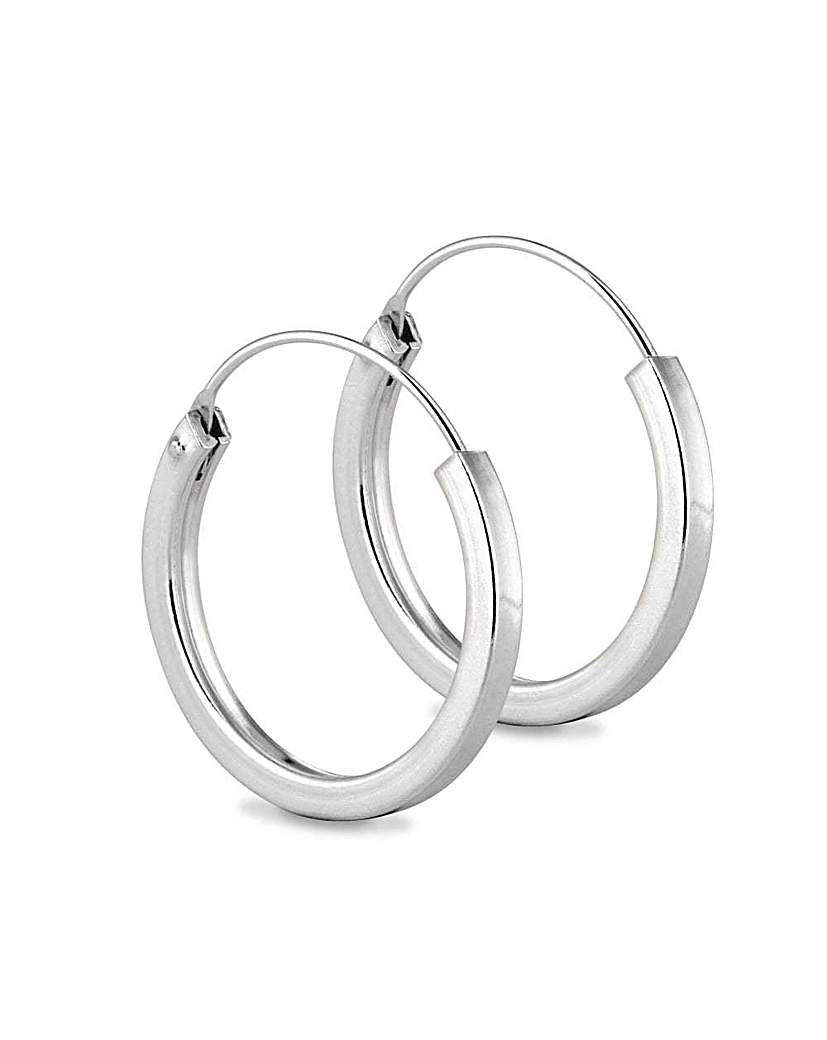 Simply Silver chunky sleeper earring