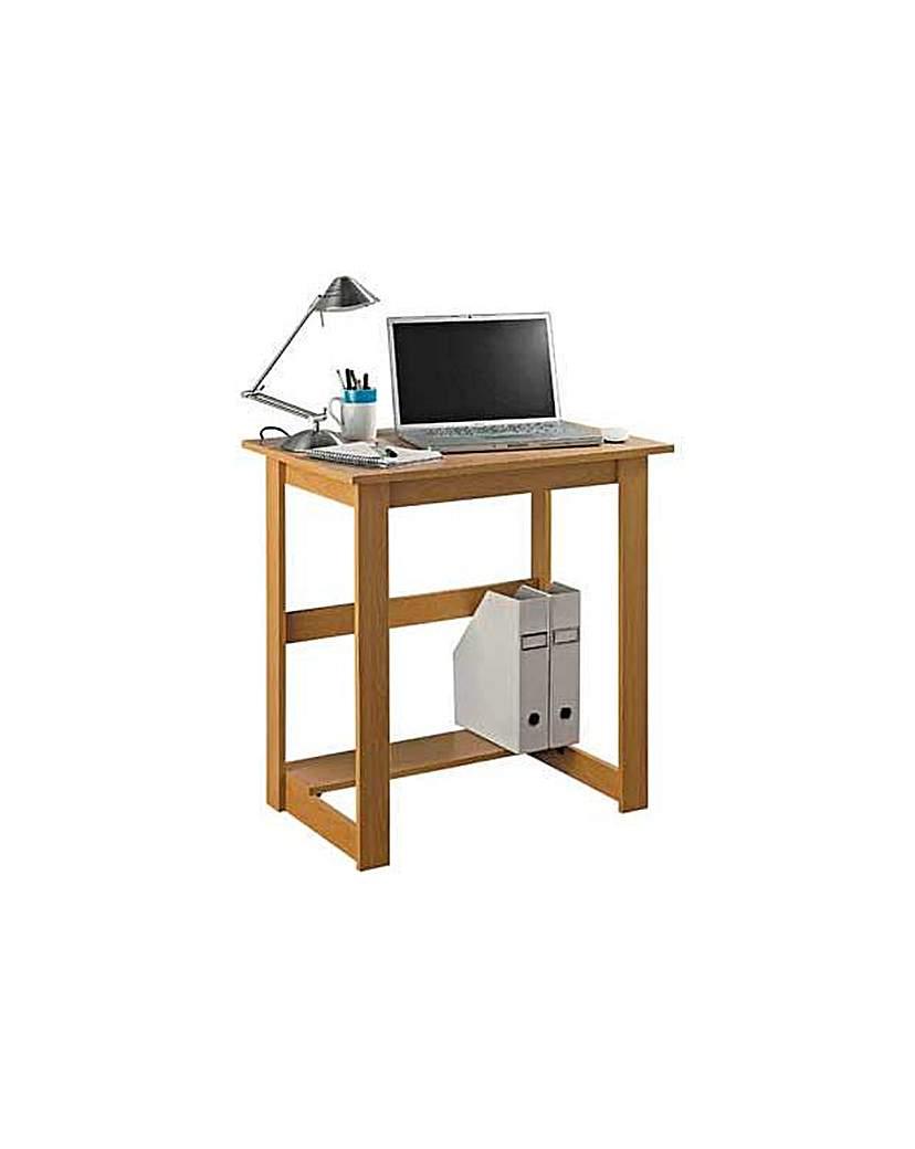 Image of Office Desk - Beech Effect.