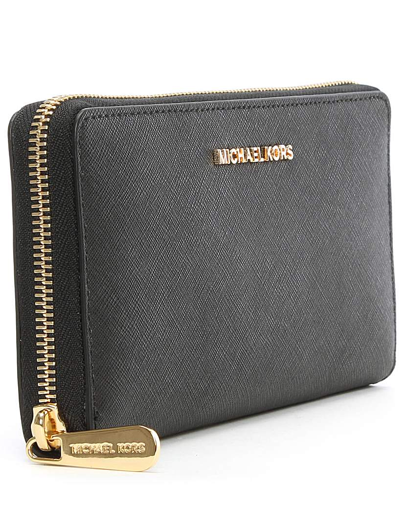 Image of Michael Kors Leather Continental Wallet