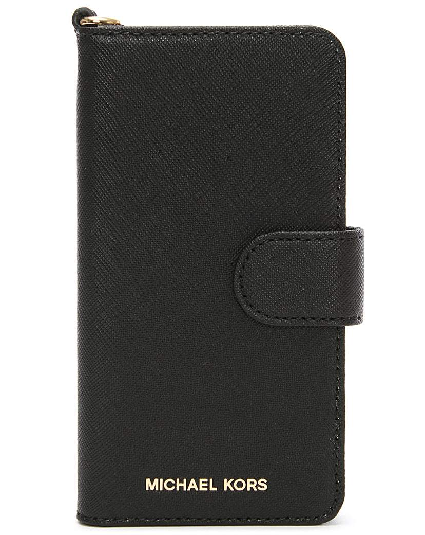 Michael Kors Black Leather iPhone 7 Case