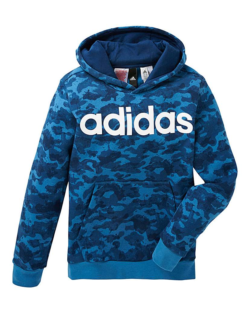 Image of adidas Youth Boys Linear Hoodie