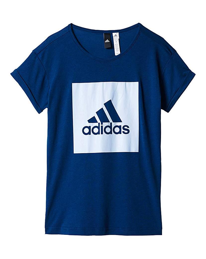 Product photo of Adidas youth girls logo loose tshirt