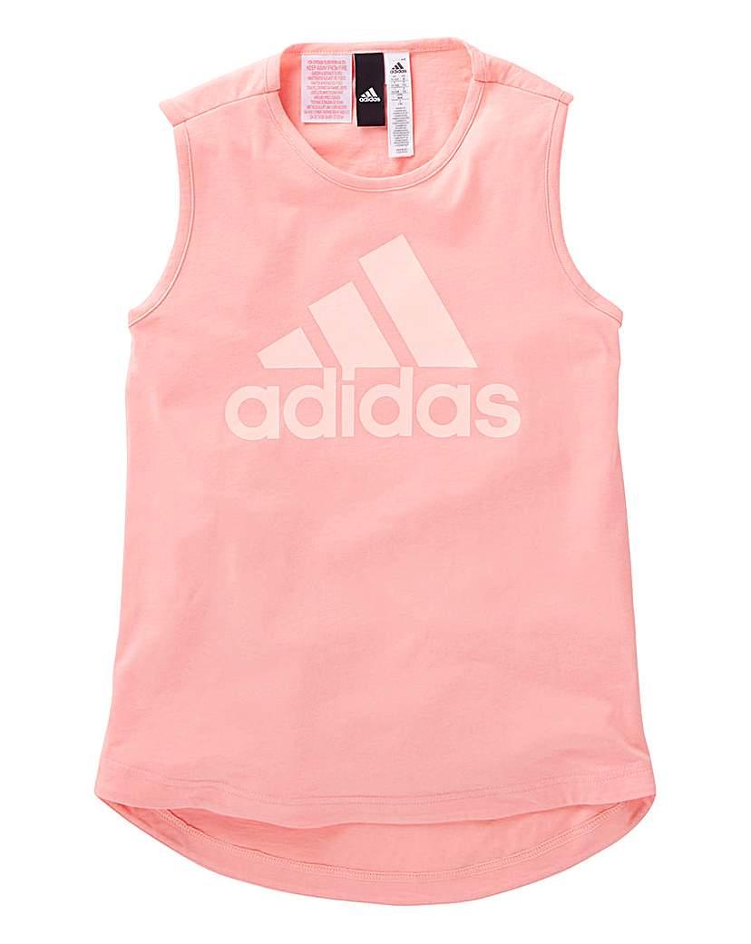 Product photo of Adidas youth girls sleeveless tshirt