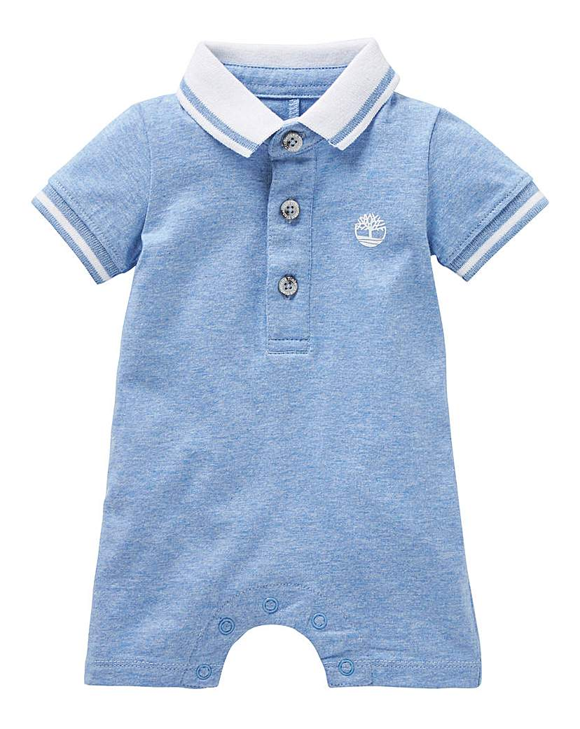 Image of Timberland Baby Polo Romper