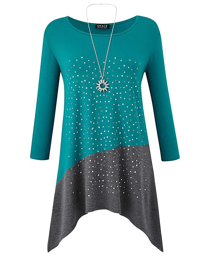 Image of Grace Made in Britain tunic + necklace