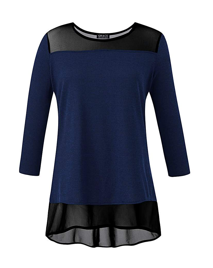 Image of Grace Made in Britain mesh trim tunic