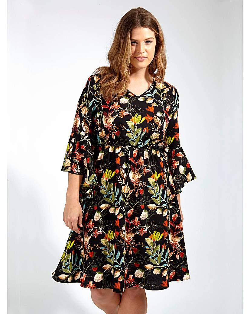 Lovedrobe GB Black Floral Print Dress