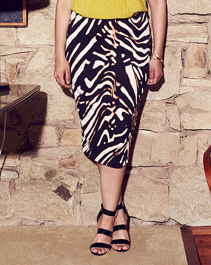 Anna Scholz Animal Print Pencil Skirt
