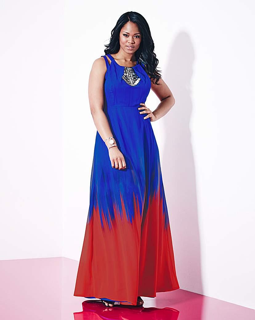 Grazia Ombre Print Maxi Dress