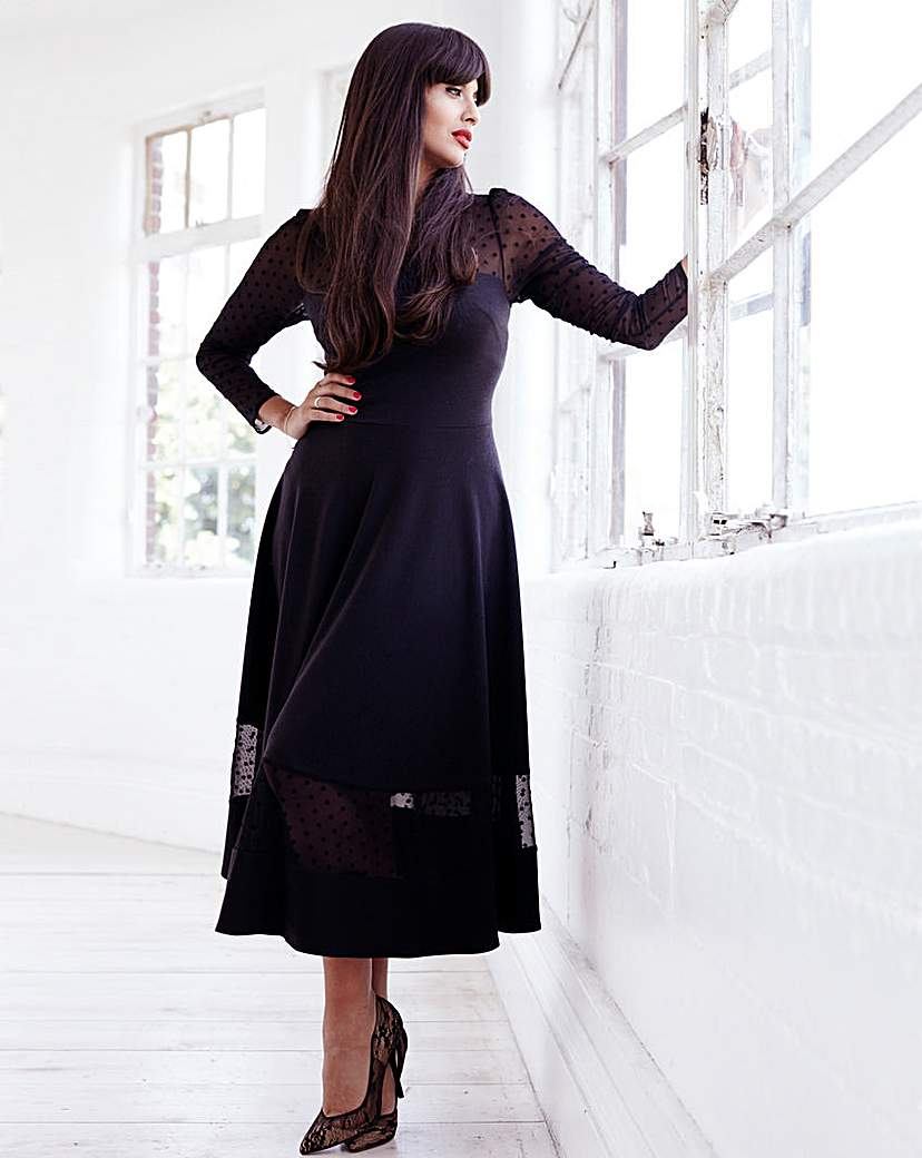 Jameela Jamil Ponte Midi Dress
